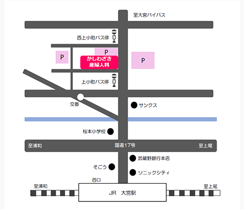 地図 埼玉県さいたま市大宮区上小町604-4